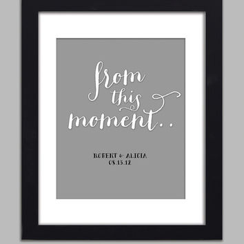 Personalized From This Moment Couples Poster Anniversary Wedding Guest Book Alternative Poster 8x10 Customized Premium Print