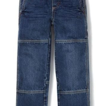 LMFON RIB WAIST CARPENTER JEANS (TODDLER BOYS, LITTLE BOYS & BIG BOYS)