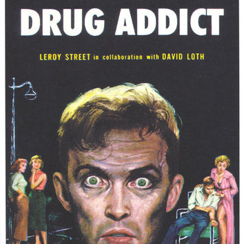 I Was A Drug Addict 11x17 Retro Book Cover Poster
