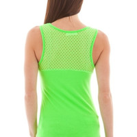 Mesh Yoke Athletic Inspired Tank
