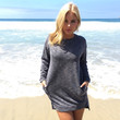 Snuggle Up Sweater Dress In Grey