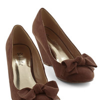 ModCloth Party Hostess Wedge in Cocoa