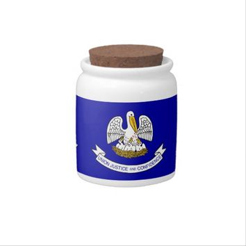 Louisiana State Flag Candy Jar