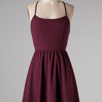 Back to You Dress - Maroon
