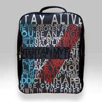Backpack for Student - Twenty One Pilots Quotes Bags