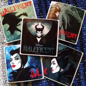 Set of 5 Maleficent Stickers
