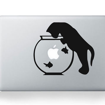 Naughty cat decals macbook stickers mac decals macbook mac stickers apple decal mac skin laptop decal mac decals for mac pro /air