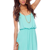 Cami Blouson Dress in Seafoam :: tobi