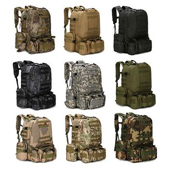 55L Molle Military Style Tactical Backpack