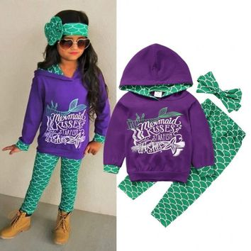 USA-Boutique-Mermaid-Kids-Girls-Hooded-Tops-Pants-Outfits-3Pcs-Set-Clothes-2-6T
