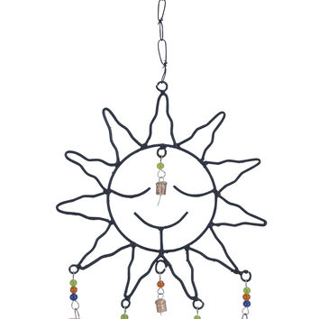 Metal Sun Face Wind Chime With Optimum Chain Link