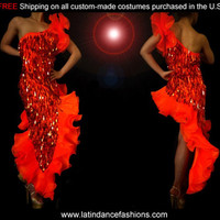 Ballroom Latin & Salsa Custom Dance Competition Costume P3D Dance costumes, Costume dresses [P3D] - $425.00 : Latin dance wear, ballroom dance shoes, latin dance skirts & Salsa dresses.