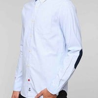 CPO Berwick Stripe Drop-Tail Button-Down Shirt- White