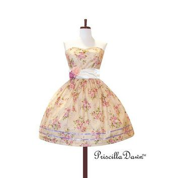 Custom In Your Size Floral Teaparty Dress by priscilladawn on Etsy