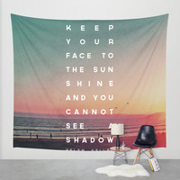 Face to the Sunshine Wall Tapestry by Zeke Tucker