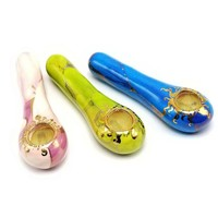 "4"" Colorful  Golding Ceramic  Pipe"