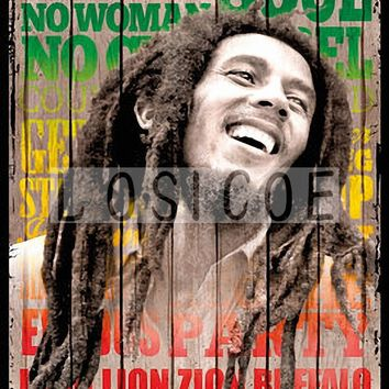 BOB MARLEY Vintage Movie Poster 30X42 CM Kraft Paper Wall Sticker Hanging Paintings Bar Cafe Gallery Interior Wall Decoration