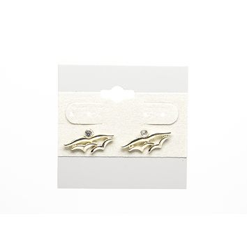 Birds with Cubic Zirconia Stone Gold Plated Stud Earring