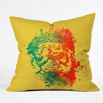 Budi Kwan King Of The Jungle Sunkiss Throw Pillow
