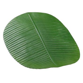 "Artificial Banana Leaf Centerpiece Placemat in Green - 19"" Long x 16"" Wide"