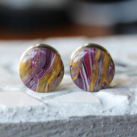 "3/4"" Ear Gauges, Polymer Clay Gauges, OOAK Ear Plugs, Unique Plugs, Double Flare, Body Mod - size 3/4"" (19mm)"