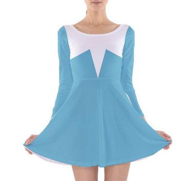 Adult Frozone The Incredibles Inspired Long Sleeve Skater Dress