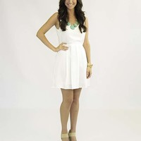 Lovely Lily White Dress - Lotus Boutique