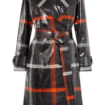 Marc Jacobs - Checked coated-cotton trench coat