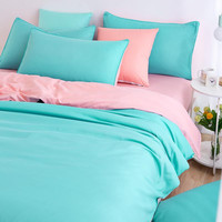 Soft and Comfortable Bedding Sets Bed Sheet and Duver Quilt Cover Pillowcase  King/ Queen /Full /Twin