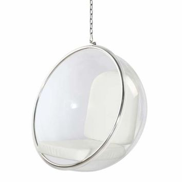 Bubble Patio Hanging Chair, White Aron Living