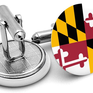 State Flag Maryland Cufflinks