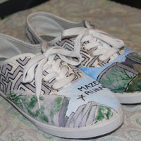 Hand Painted Maze Runner Inspired Shoes