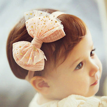 1PC  Mini Lace Baby Flower Headband Chic Flower Head Bands Girls Headwear Hair Bow for Children Kids Hair Accessories H175
