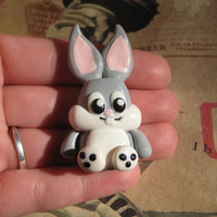 Bugs Bunny polymer clay charm necklace