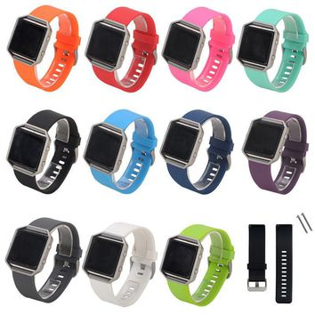 Silicone Band Wristband Bracelet Strap with Schnalle for Fitbit Blaze Smart
