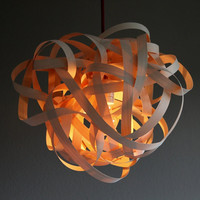 Lamp BIRDSNEST Maple Wood Pendant Lamp 40cm