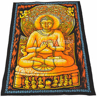 Buddha Art Paintings Wall Tapestry Buddhism Indian Wall Decor Wall Hanging 0136