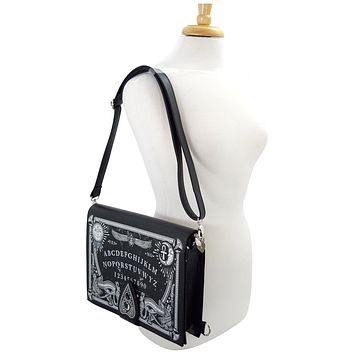 Gothic Black Magic Ouija Board & Planchette Ouija Board Shape Handbag