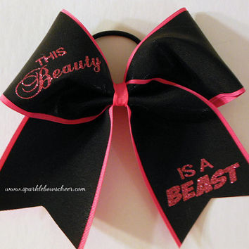 This Beauty is a Beast Bow Cheerleading