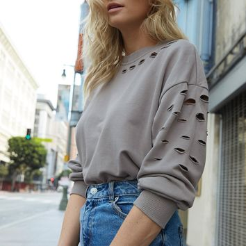 Lucca Distressed Sweatshirt