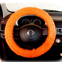 by (CoverWheel) Steering wheel cover for wheel car accessories Neon Orange