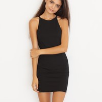 Bodycon Sport Neck Dress