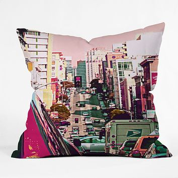 Shannon Clark Hustle And Bustle Throw Pillow