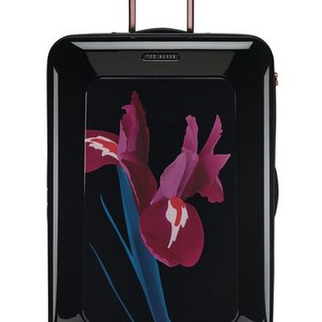 Ted Baker London 'Large Stencilled Stem' Four Wheel Suitcase (32 Inch) | Nordstrom