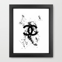 chanel Framed Art Print by PYRHAMID