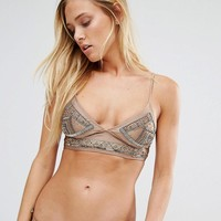 River Island | River Island Embellished Soft Triangle Bikini Top at ASOS