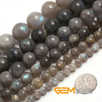 """Round Labradorite Stone Beads Natural Stone Beads DIY Loose Bead For Jewelry Making For Bracelet Making Strand 15"""" Free Shipping"""