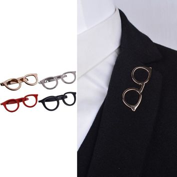 Men Glasses Tie Bars Pin Clasp For Wedding Business Suit Tie Gift Accessories
