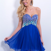 Sweetheart Beaded Homecoming Blush Dress 9865
