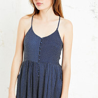 Minkpink Love Polkadot Playsuit in Navy - Urban Outfitters